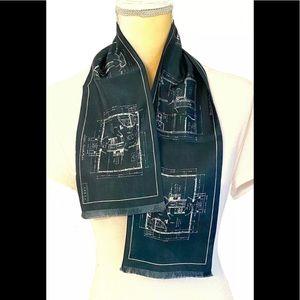 Louis Vuitton Silk Floor Print Scarf Bandana Green